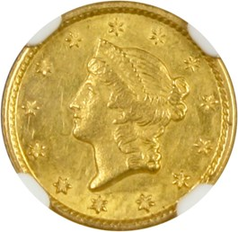 Image of 1849-O G$1 NGC MS62