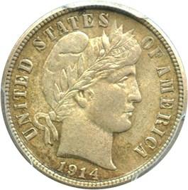Image of 1914 10c PCGS AU58