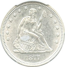Image of 1877 25c PCGS MS61