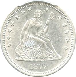 Image of 1877 25c PCGS MS61