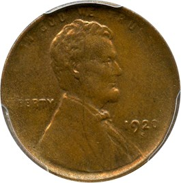 Image of 1920-S 1c PCGS MS63 BN