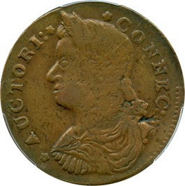 Image of 1787 Connecticut PCGS VF35 BN (Draped Bust Left)