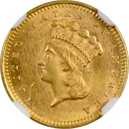 Image of 1859 G$1 NGC MS62