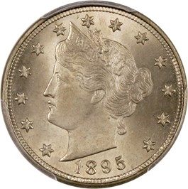 Image of 1895 5c PCGS/CAC MS65