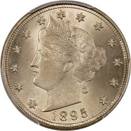 Image of 1895 5c PCGS/CAC MS65