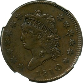 Image of 1810 1c NGC VF30 BN