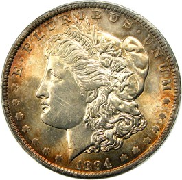 Image of 1894-O $1 PCGS MS63