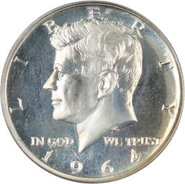 Image of 1964 50c PCGS Proof 67 CAM (Accented Hair)