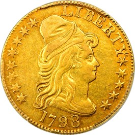 Image of 1798 Large Eagle $5 PCGS AU53 (Large 8, 14 Stars)