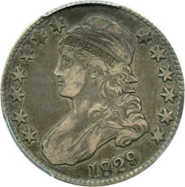 Image of 1829 50c PCGS VF35