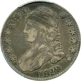 Image of 1829 50c PCGS VF35