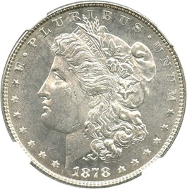 Image of 1878 7TF $1 NGC MS62 PL (Reverse of 1878)