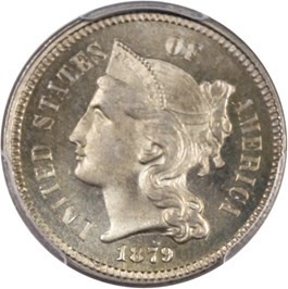 Image of 1879 3cN PCGS MS66