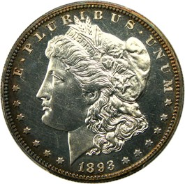 Image of 1893 $1 PCGS Proof 63