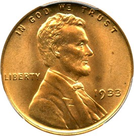 Image of 1933 1c PCGS MS65 RD
