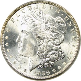 Image of 1886 $1 PCGS/CAC MS66+
