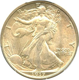 Image of 1917 50c PCGS/CAC MS64