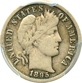 Image of 1895-S 10c PCGS VF20