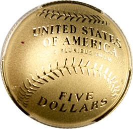 Image of 2014-W Baseball Hall of Fame $5 PCGS Proof 70 DCAM (Dennis Eckersley Signature) - No Reserve!