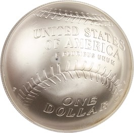 Image of 2014-P Baseball Hall of Fame $1 PCGS MS70 (Rollie Fingers Signature) - No Reserve!