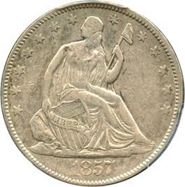 Image of 1857 50c PCGS XF40