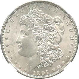 Image of 1897 $1 NGC MS64
