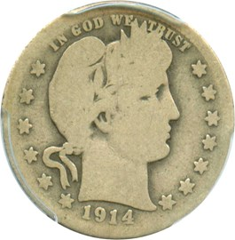 Image of 1914-S 25c PCGS AG-03