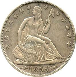 Image of 1855-O 50c PCGS XF45 (Arrows)