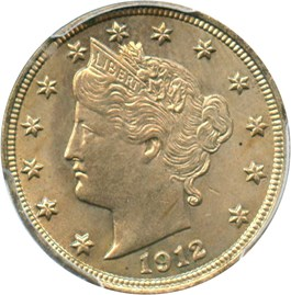 Image of 1912 5c PCGS MS64