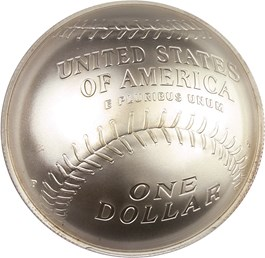 Image of 2014-P Baseball Hall of Fame $1 PCGS MS70 (First Strike, Hank Aaron Signature)