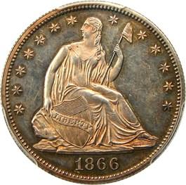 Image of 1866 50c PCGS Proof 62 (Motto)