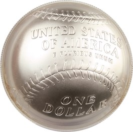 Image of 2014-P Baseball Hall of Fame $1 PCGS MS70 (Lou Brock Signature) - No Reserve!