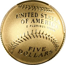 Image of 2014-W Baseball Hall of Fame $5 PCGS Proof 70 DCAM (Roberto Alomar Autograph)- No Reserve!