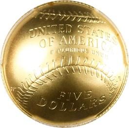 Image of 2014-W Baseball Hall of Fame $5 PCGS MS70 (Bill Buckner Autograph)- No Reserve!