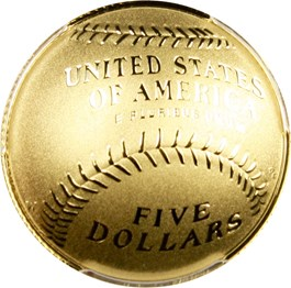 Image of 2014-W Baseball Hall of Fame $5 PCGS Proof 70 DCAM (First Strike, Hank Aaron Signature) - No Reserve!