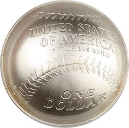 Image of 2014-P Baseball Hall of Fame $1 PCGS MS70 (Ernie Banks Signature) - No Reserve!