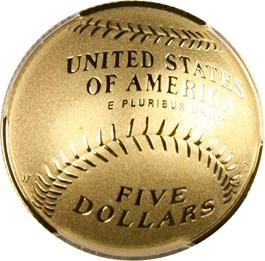 Image of 2014-W Baseball Hall of Fame $5 PCGS Proof 70 DCAM (Mitch Williams Autograph)- No Reserve!