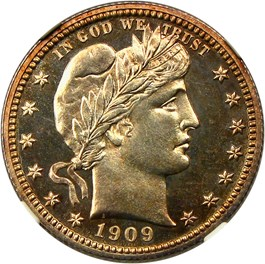 Image of 1909 25c NGC/CAC Proof 64