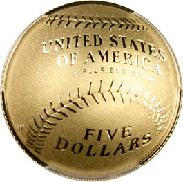 Image of 2014-W Baseball Hall of Fame $5 PCGS Proof 70 DCAM (Jim Palmer Signature) - No Reserve!