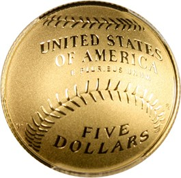 Image of 2014-W Baseball Hall of Fame $5 PCGS Proof 70 DCAM (First Strike, Andrew Dawson Signature) - No Reserve!