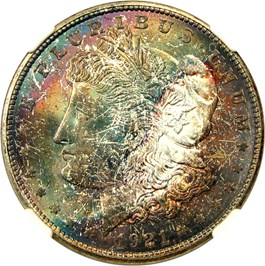 Image of 1921-D $1 NGC MS67