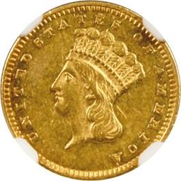 Image of 1867 G$1 NGC AU55