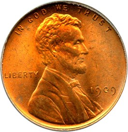 Image of 1909 Lincoln 1c PCGS MS65 RD