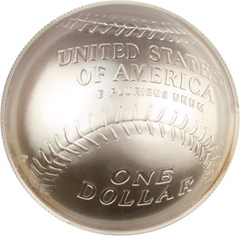Image of 2014-P Baseball Hall of Fame $1 PCGS MS70 (Darryl Strawberry Autograph)- No Reserve!