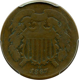 Image of 1867 2c PCGS Good-04 (Doubled Die)
