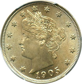 Image of 1905 5c PCGS MS64