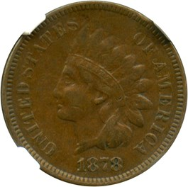 Image of 1878 1c NGC VF35 BN