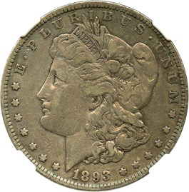 Image of 1893 $1 NGC VF20