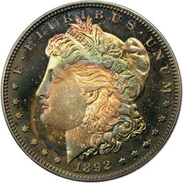 Image of 1892 $1 PCGS/CAC Proof 67
