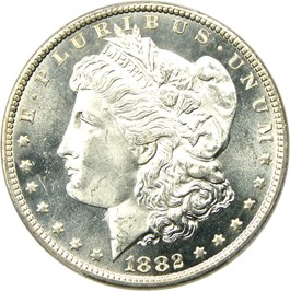 Image of 1882-CC $1 PCGS/CAC MS66 PL